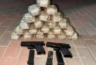 جيش الاحتلال يعلن إحباط محاولة تهريب مسدسات ومخدرات على الحدود اللبنانية