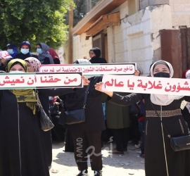 """غزة: """"مستفيدو الشؤون"""" يصرخون بوجه """"التنمية"""".. """"إصرفولنا مخصصاتنا فورًا"""" - صور"""