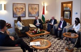 اشتية يلتقي وزيرة خارجية السويد ومجلسي الدولة والشورى العمانيين ويبحث معهما آخر التطورات