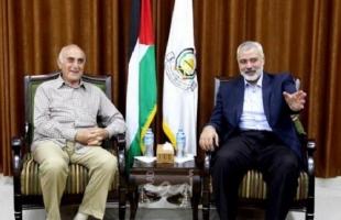 """""""أمد"""" يكشف رد الرئيس عباس على رسالة منيب المصري بعد لقاء هنية"""