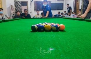 مركز شباب الأمة ينفذ بطولة أبطال خان يونس للبلياردو