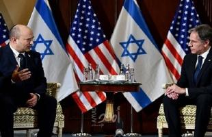 بلينكن: أكدت لبينيت أن قضية فلسطين مهمة لنا جميعًا وضرورة كبح نشاط إيران