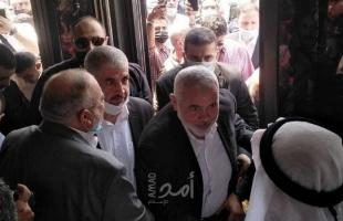 هنية ومشعل يشاركان بتشييع جثمان قيادي سابق بحماس في عمان