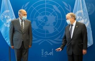 أبو الغيط وغوتيريش يؤكدان ضرورة التوصل إلى تسوية عادلة لإقامة الدولة الفلسطينية وعاصمتها القدس الشرقية