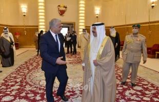 """وزير خارجية إسرائيل يثمن """"قيادة وإلهام"""" ملك البحرين"""