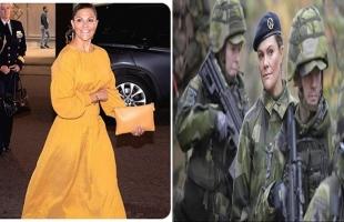 ولي عهد السويد تتخلى عن أنوثتها وترتدي الملابس العسكرية