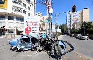 مرور غزة: حالة وفاة و(5) إصابات في 10 حوادث سير بالقطاع