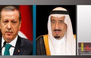 أردوغان يتصل هاتفيا بالملك السعودي سلمان