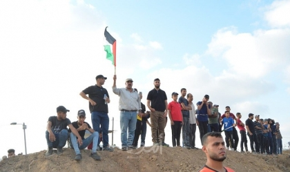 شاهد - مواجهات شرق غزة في ذكرى إحراق الأقصى