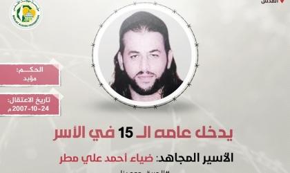 """""""مهجة القدس"""": الأسير المقدسي """"ضياء مطر"""" يدخل عامه الـ(15) في سجون الاحتلال"""