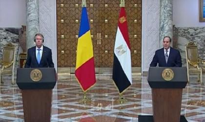 رئيسا مصر ورومانيا: من المهم إيجاد حل عادل للقضية الفلسطينية على أساس حل الدولتين
